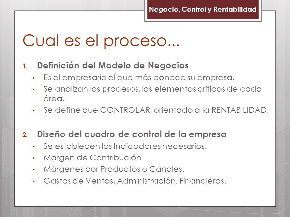 Cual es el proceso... Definición del Modelo de Negocios