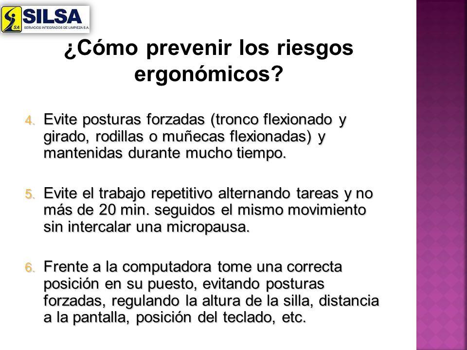 ¿Cómo prevenir los riesgos ergonómicos