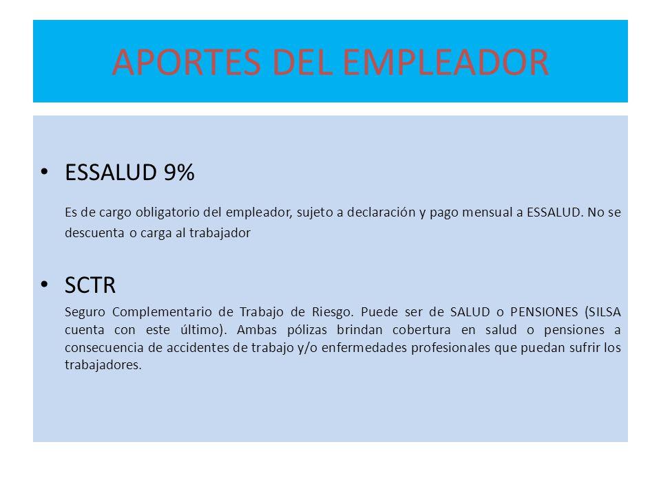 APORTES DEL EMPLEADOR ESSALUD 9%