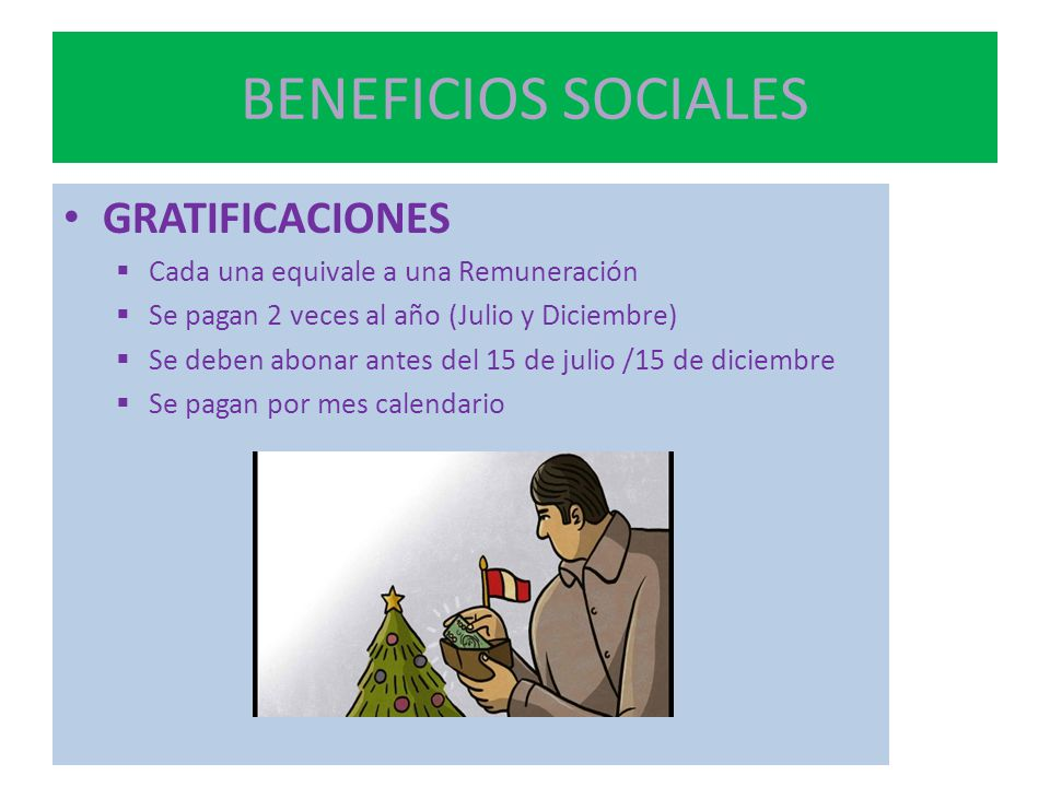 BENEFICIOS SOCIALES GRATIFICACIONES