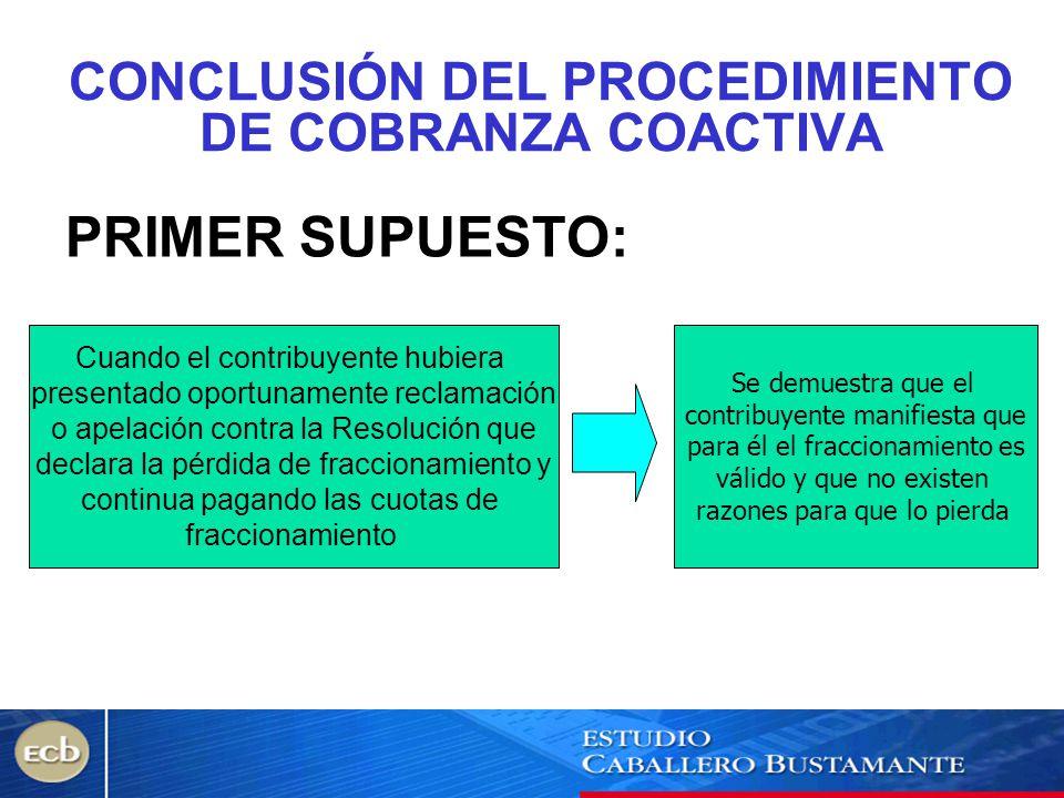 CONCLUSIÓN DEL PROCEDIMIENTO DE COBRANZA COACTIVA