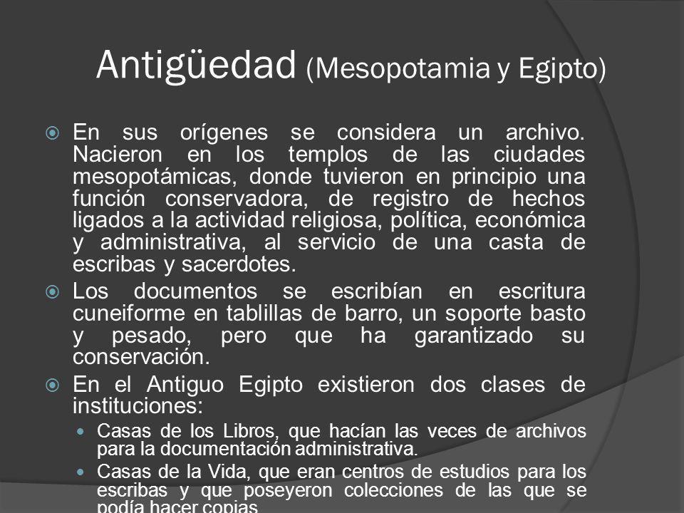 Antigüedad (Mesopotamia y Egipto)