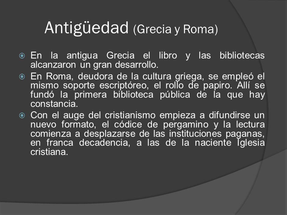 Antigüedad (Grecia y Roma)