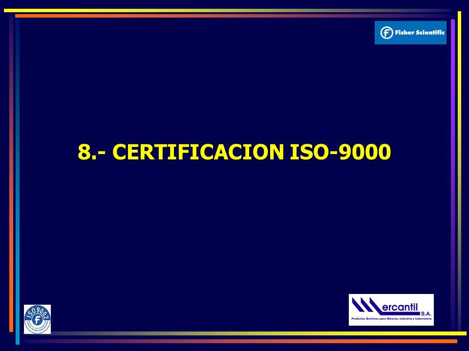 8.- CERTIFICACION ISO-9000