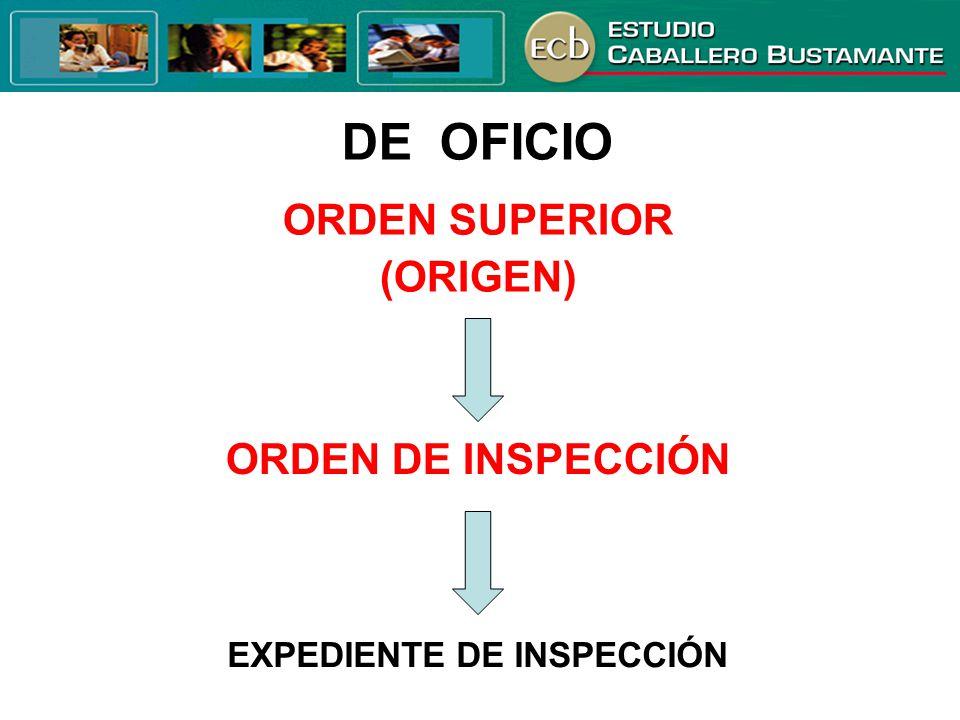 EXPEDIENTE DE INSPECCIÓN