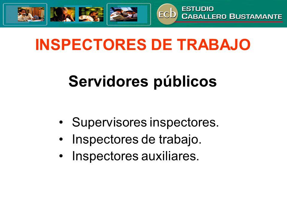 INSPECTORES DE TRABAJO