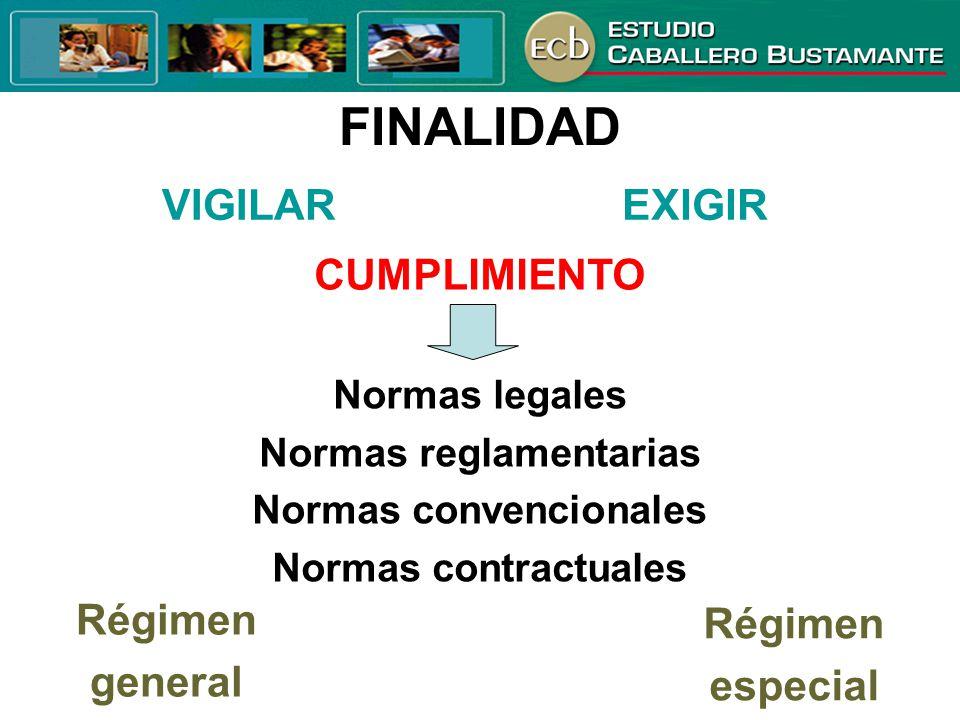 Normas reglamentarias Normas convencionales