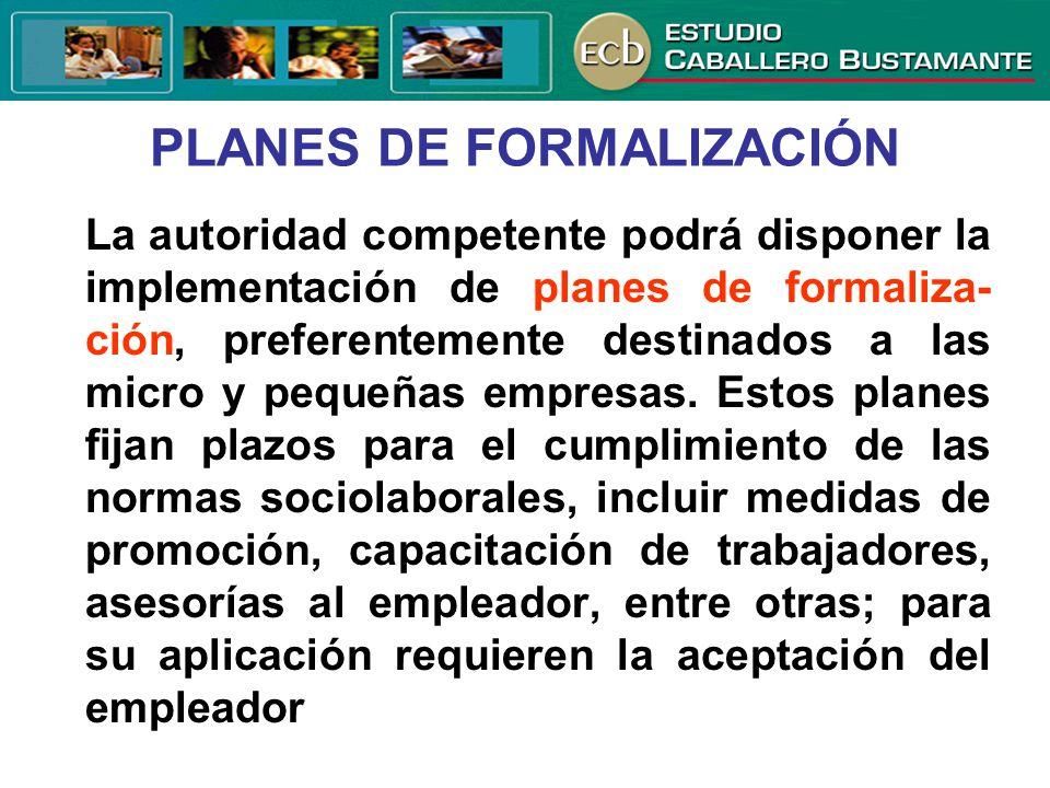 PLANES DE FORMALIZACIÓN