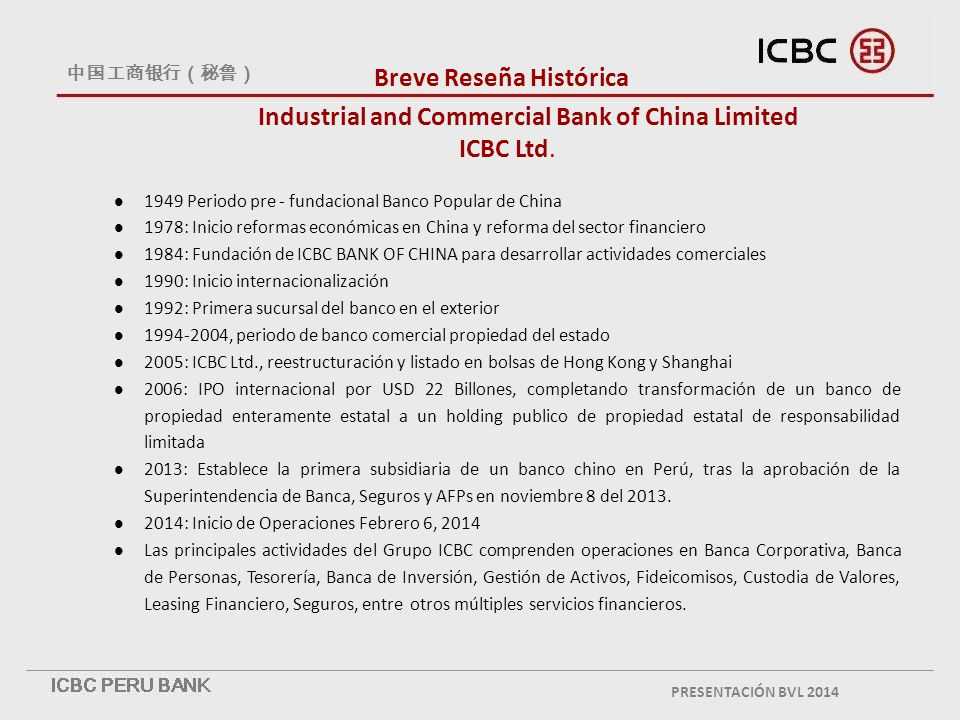Industrial and Commercial Bank of China Limited ICBC Ltd.