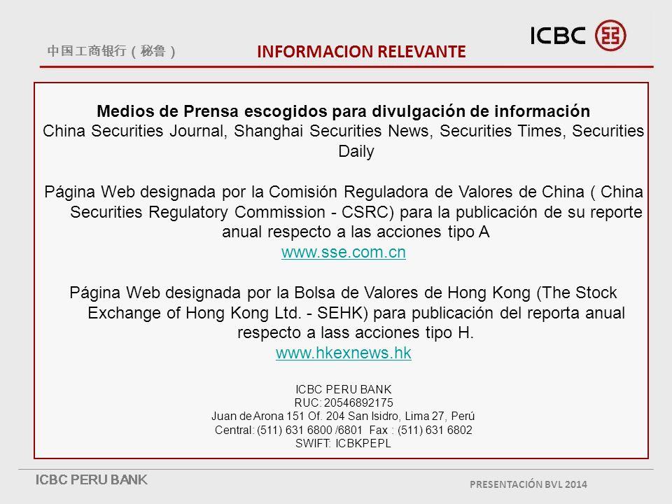 Medios de Prensa escogidos para divulgación de información