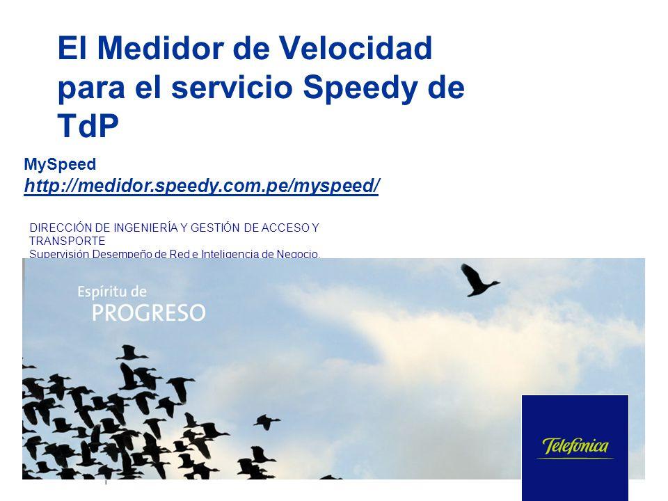 El Medidor de Velocidad para el servicio Speedy de TdP