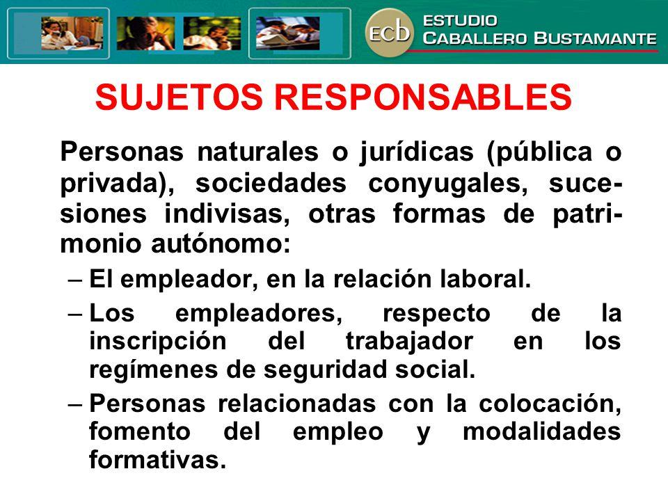 SUJETOS RESPONSABLES