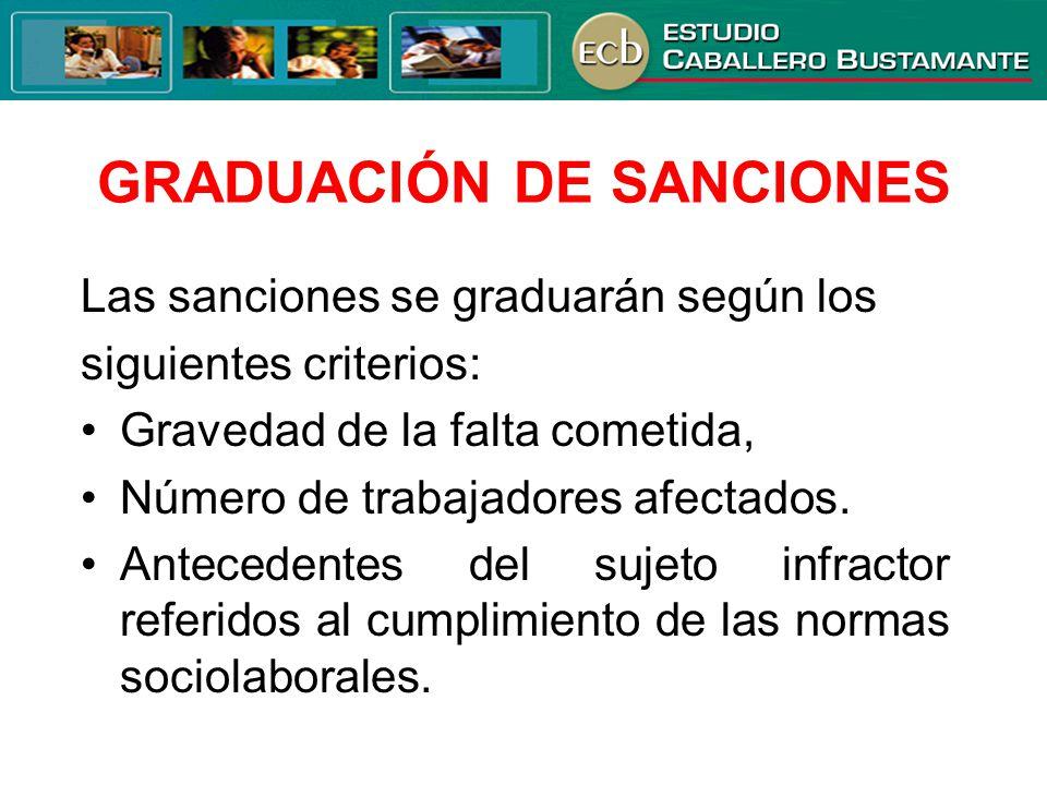 GRADUACIÓN DE SANCIONES