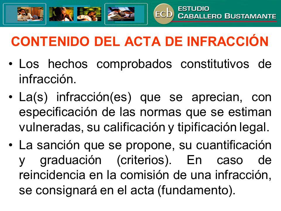 CONTENIDO DEL ACTA DE INFRACCIÓN
