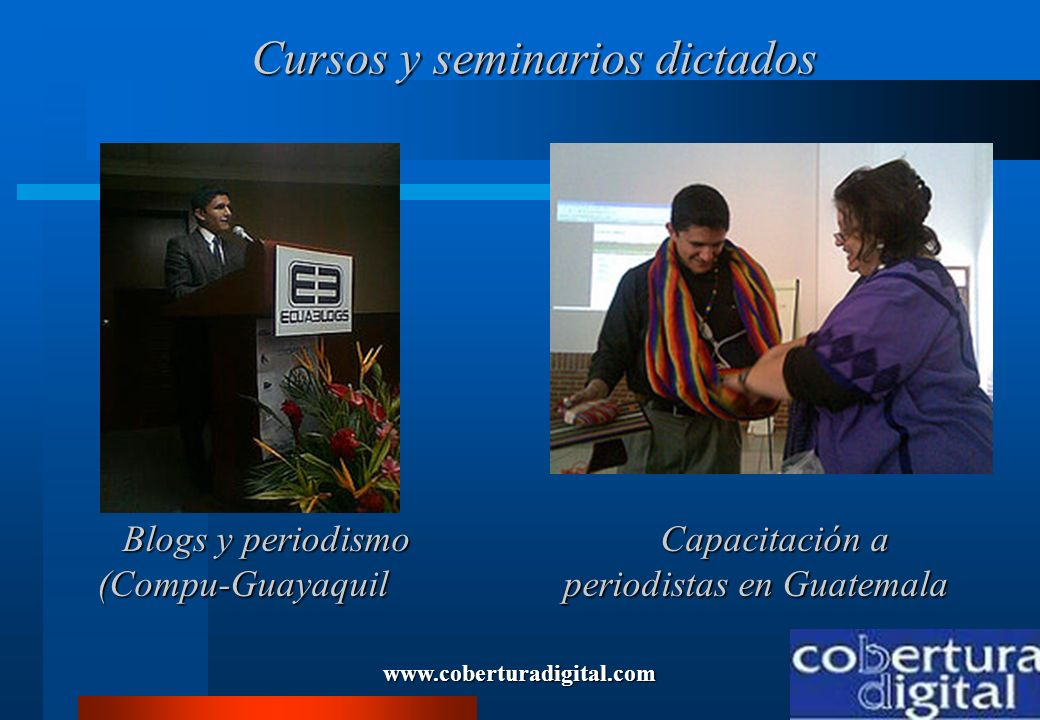 Cursos y seminarios dictados