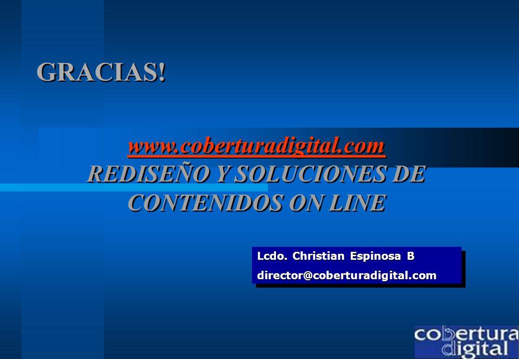 www.coberturadigital.com REDISEÑO Y SOLUCIONES DE CONTENIDOS ON LINE