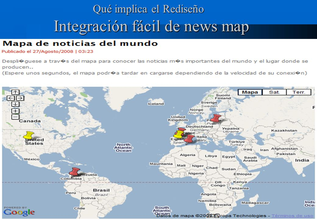 Integración fácil de news map