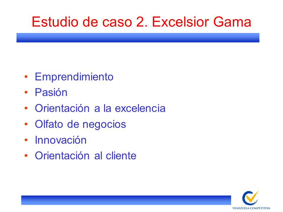 Estudio de caso 2. Excelsior Gama