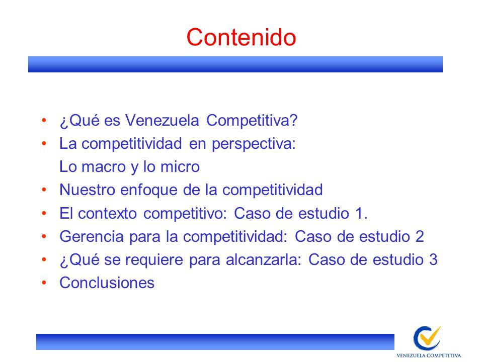 Contenido ¿Qué es Venezuela Competitiva