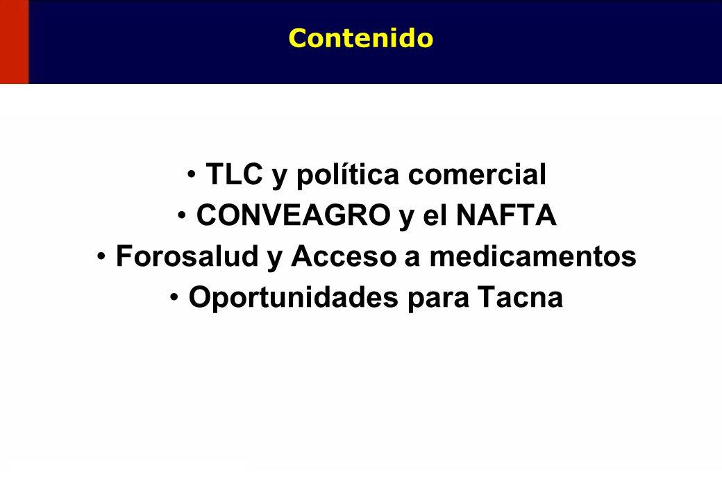 TLC y política comercial CONVEAGRO y el NAFTA
