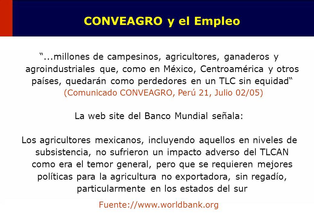 La web site del Banco Mundial señala: