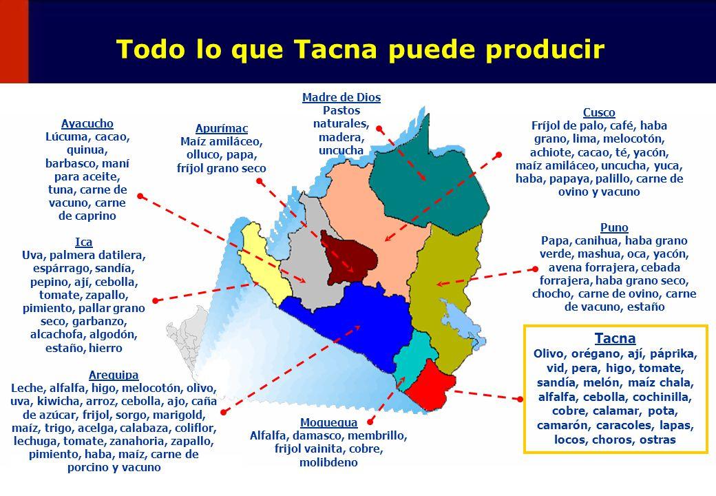 Todo lo que Tacna puede producir