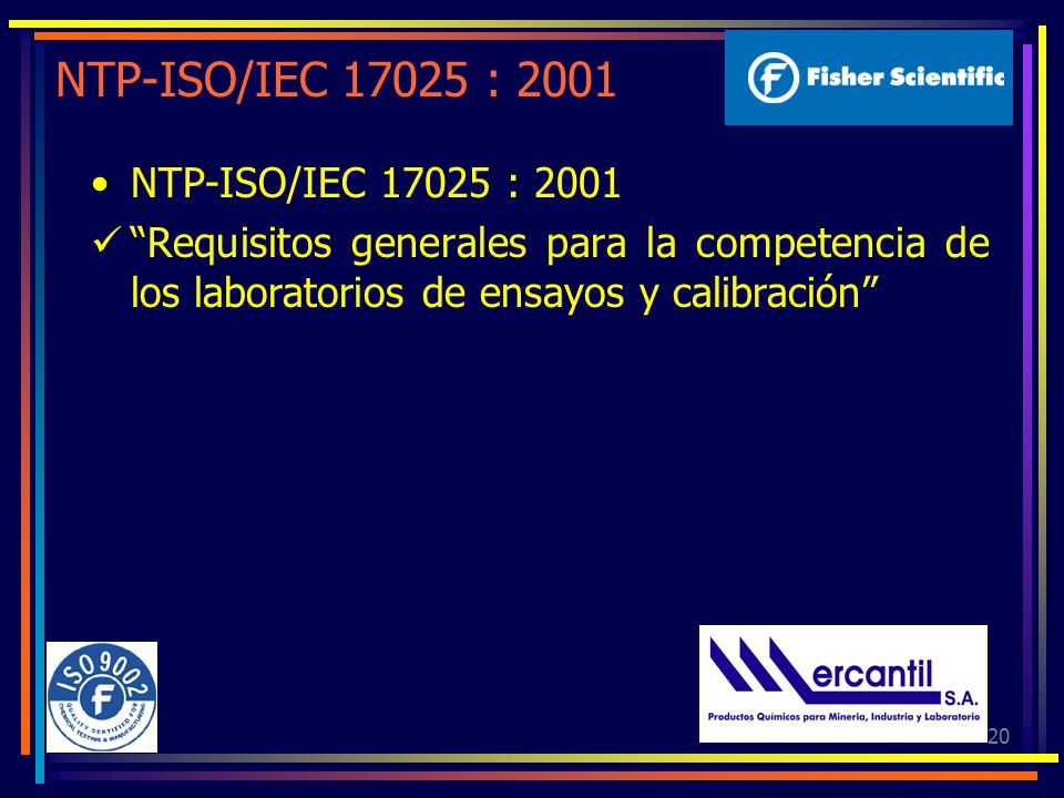NTP-ISO/IEC 17025 : 2001 NTP-ISO/IEC 17025 : 2001