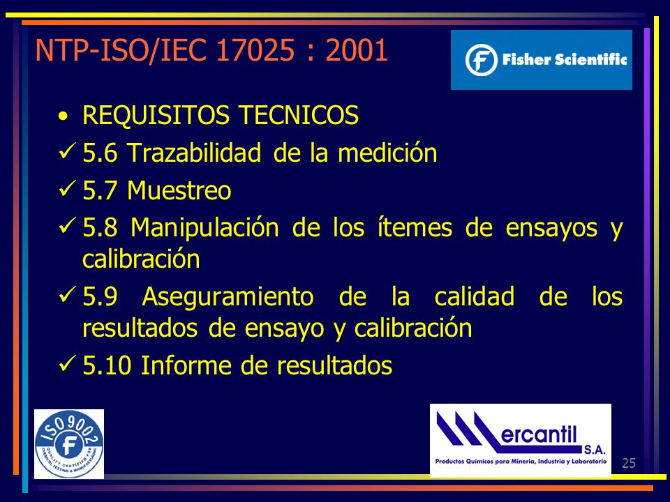 NTP-ISO/IEC 17025 : 2001 REQUISITOS TECNICOS