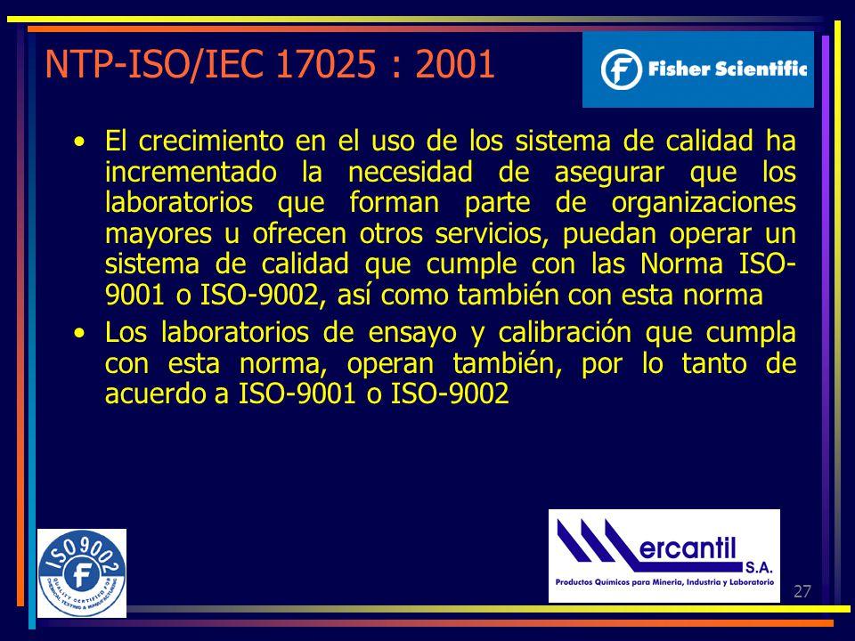 NTP-ISO/IEC 17025 : 2001