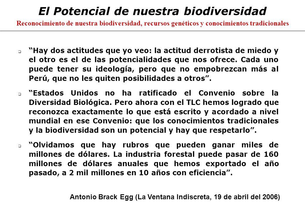 El Potencial de nuestra biodiversidad