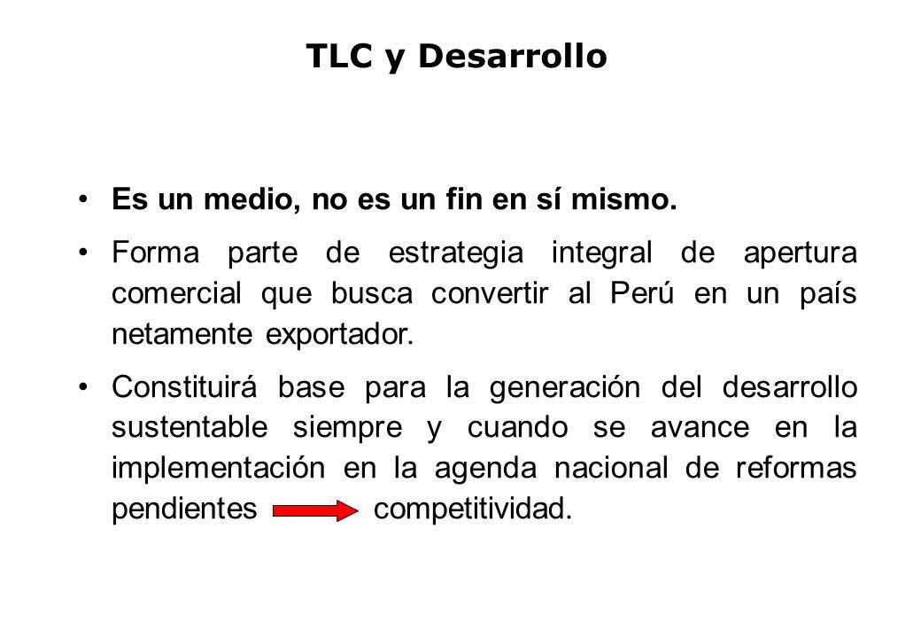 TLC y Desarrollo Es un medio, no es un fin en sí mismo.