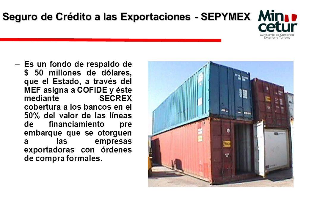 Seguro de Crédito a las Exportaciones - SEPYMEX