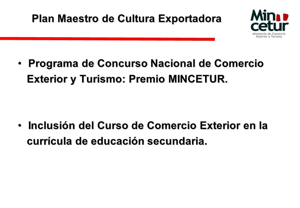 Plan Maestro de Cultura Exportadora