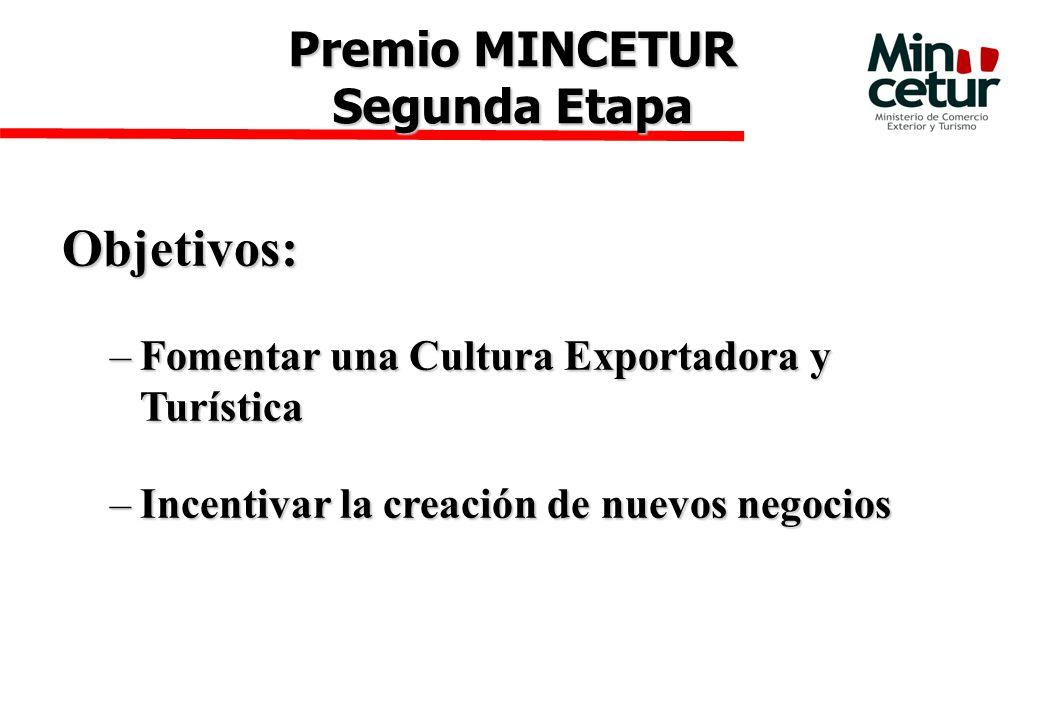 Objetivos: Premio MINCETUR Segunda Etapa