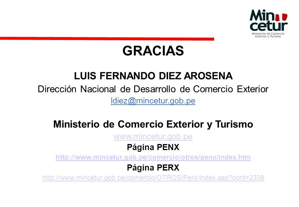 LUIS FERNANDO DIEZ AROSENA Ministerio de Comercio Exterior y Turismo