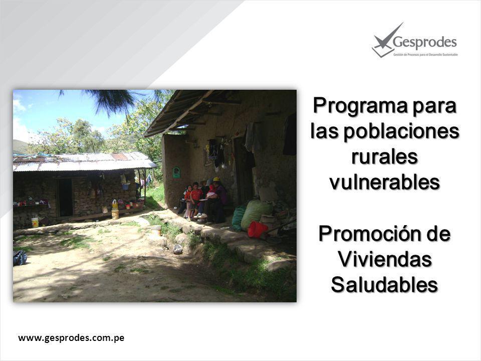 Programa para las poblaciones rurales vulnerables