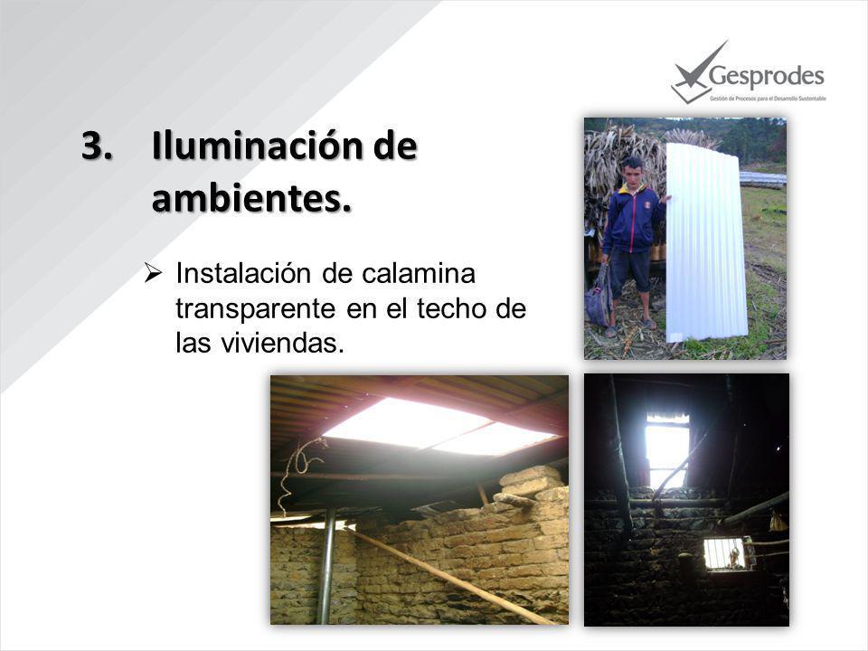 Iluminación de ambientes.
