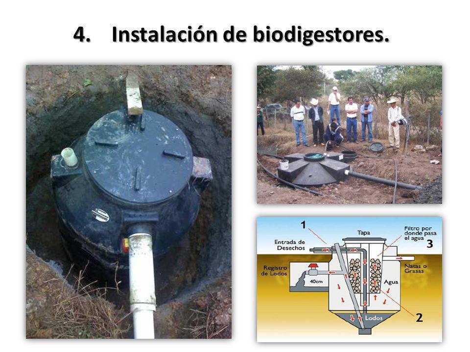 Instalación de biodigestores.