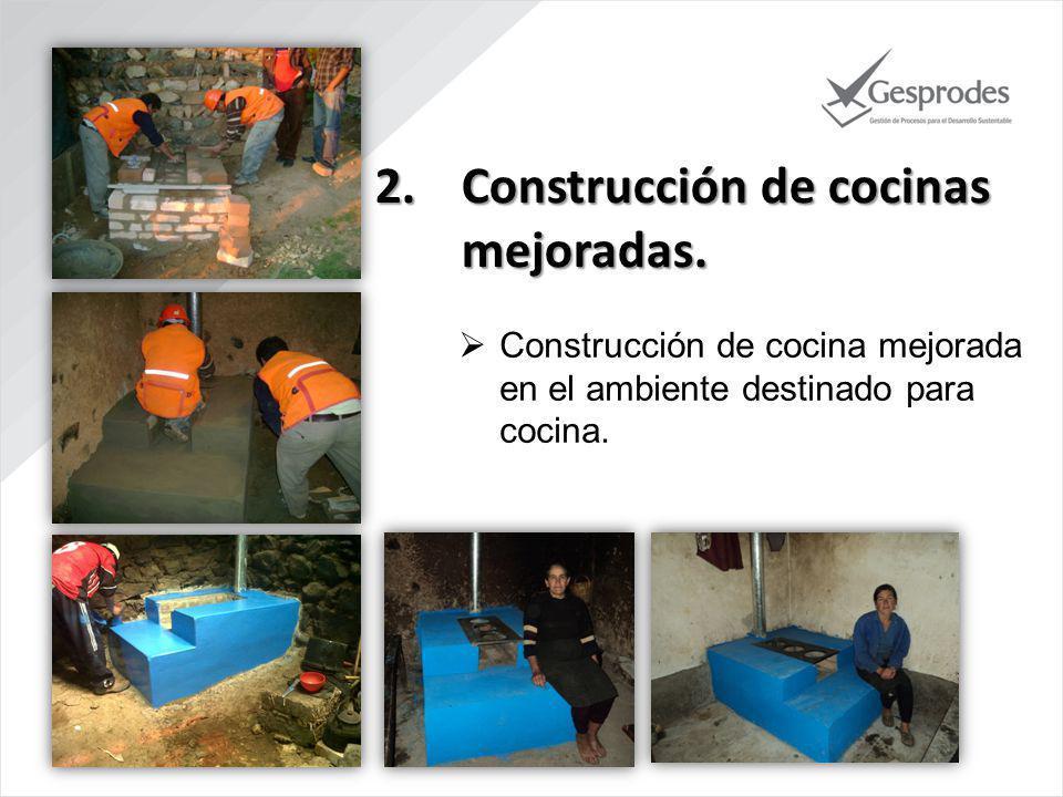 Construcción de cocinas mejoradas.