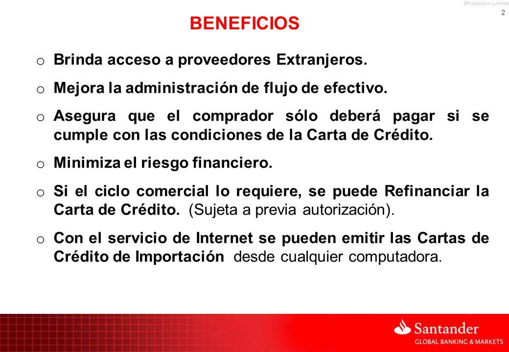 REFINANCIAMIENTO DE CARTAS DE CREDITO DE IMPORTACION
