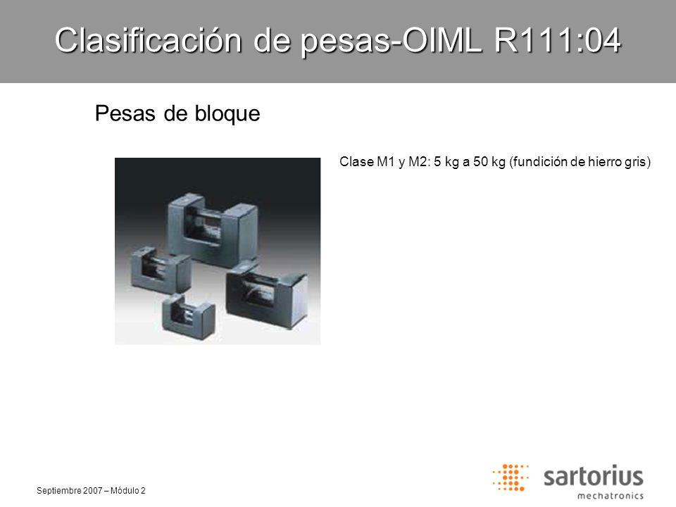 Clasificación de pesas-OIML R111:04