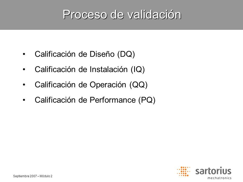 Proceso de validación Calificación de Diseño (DQ)
