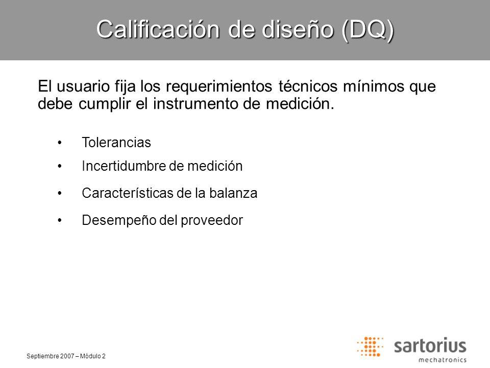 Calificación de diseño (DQ)