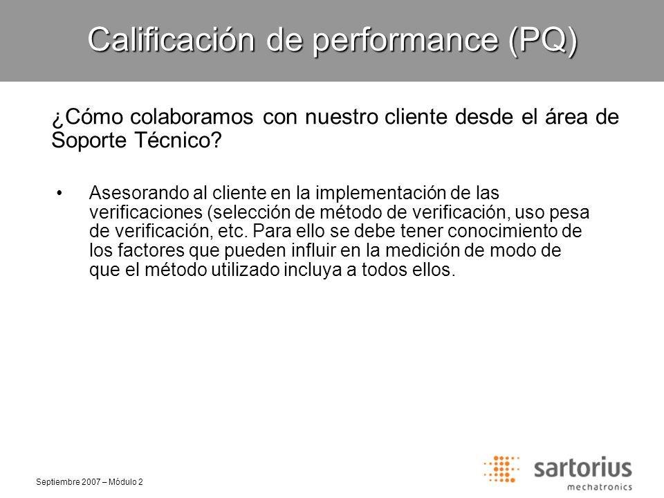 Calificación de performance (PQ)