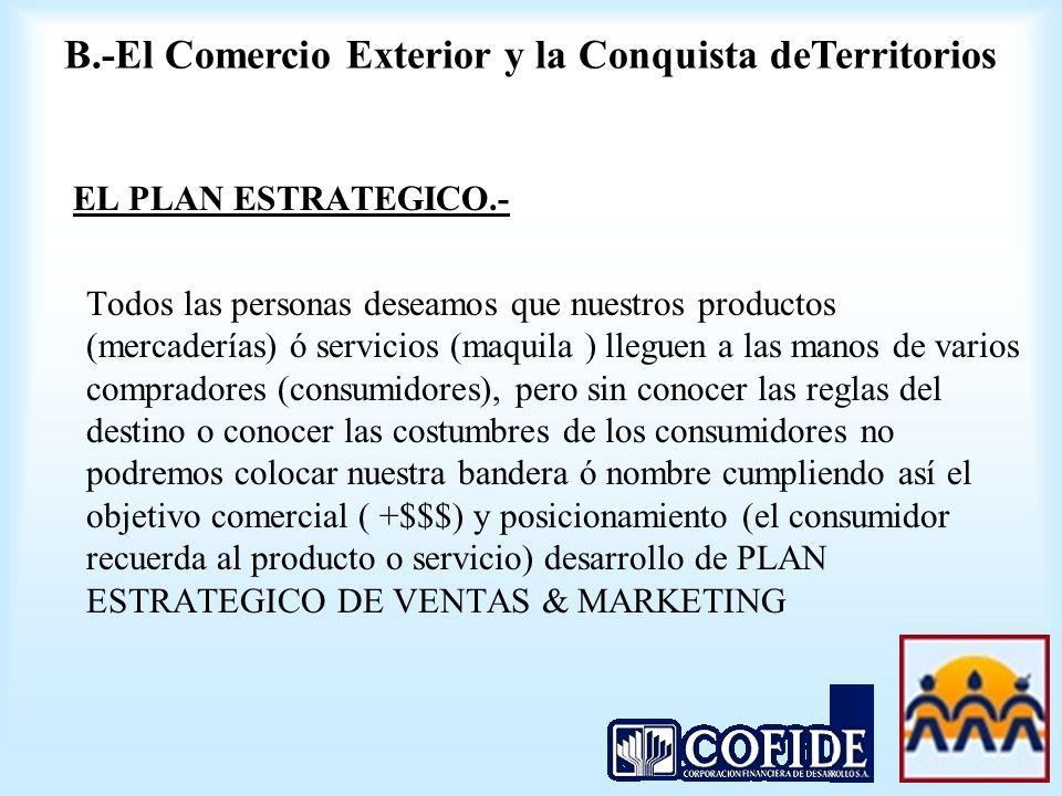 B.-El Comercio Exterior y la Conquista deTerritorios