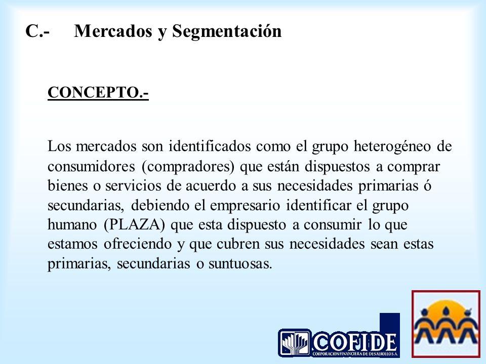 C.- Mercados y Segmentación