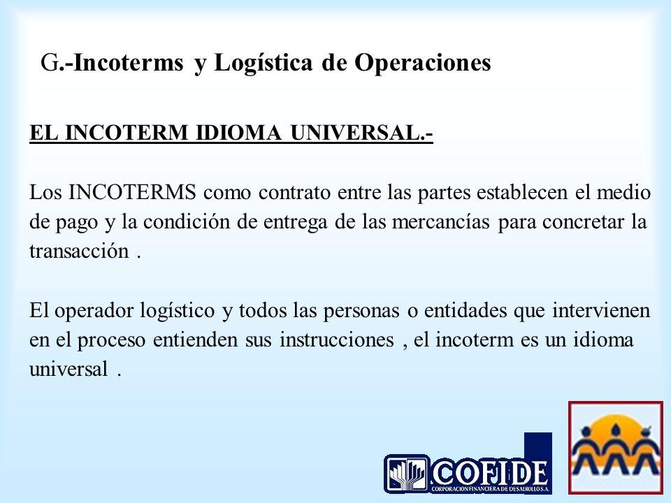 G.-Incoterms y Logística de Operaciones