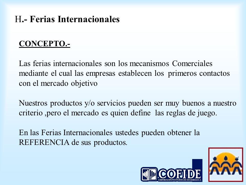 H.- Ferias Internacionales