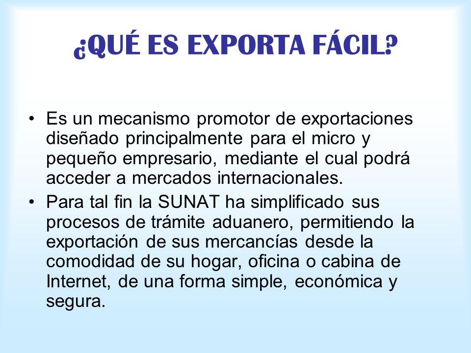¿QUÉ ES EXPORTA FÁCIL