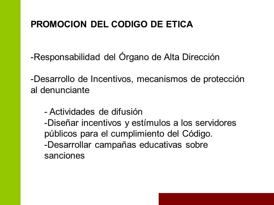 PROMOCION DEL CODIGO DE ETICA